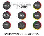 color modern circle progress... | Shutterstock .eps vector #305082722