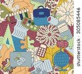 seamless school pattern....   Shutterstock .eps vector #305085446