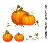 Fresh Two Pumpkin With Sweet...