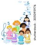 chorus of angels | Shutterstock .eps vector #305095976
