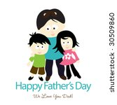happy father's day isolated... | Shutterstock .eps vector #30509860