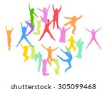 team achievement isolated over... | Shutterstock .eps vector #305099468