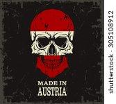 skull color of the flag | Shutterstock .eps vector #305108912