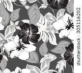 floral seamless pattern  ... | Shutterstock .eps vector #305116202