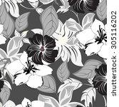 floral seamless pattern  ... | Shutterstock .eps vector #305116202