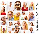 diverse people variation... | Shutterstock . vector #305128256