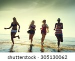 friendship freedom beach summer ... | Shutterstock . vector #305130062