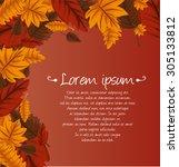 autumn background | Shutterstock .eps vector #305133812