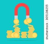 money coin magnet  business... | Shutterstock .eps vector #305138255