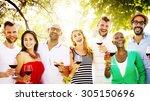 friends friendship party... | Shutterstock . vector #305150696