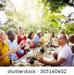 friends friendship outdoor... | Shutterstock . vector #305160602