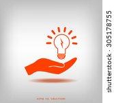 pictograph of light bulb | Shutterstock .eps vector #305178755