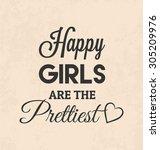 retro typographic poster design ... | Shutterstock .eps vector #305209976