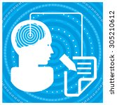 global communications... | Shutterstock .eps vector #305210612