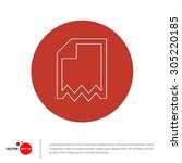 vector paper icon   flat... | Shutterstock .eps vector #305220185