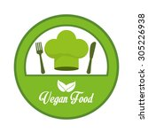 vegan food design  vector... | Shutterstock .eps vector #305226938