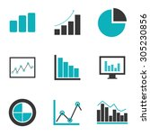 business statistics design ... | Shutterstock .eps vector #305230856