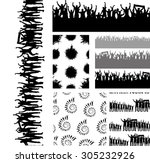 big set of seamless repeating... | Shutterstock .eps vector #305232926