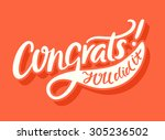 congrats  you did it ... | Shutterstock .eps vector #305236502