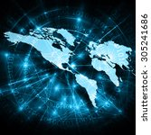 best internet concept of global ... | Shutterstock . vector #305241686