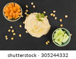 Delicious Hummus Background....