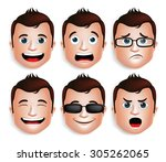 Set Of 3d Realistic Handsome...