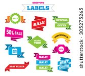 sale shopping labels. sale... | Shutterstock .eps vector #305275265