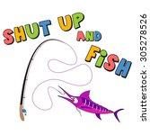vector fishing illustration   Shutterstock .eps vector #305278526