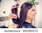 young beautiful woman having... | Shutterstock . vector #305289272