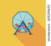 lotteries icon. flat vector... | Shutterstock .eps vector #305290655
