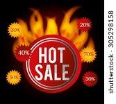 shopping digital design  vector ... | Shutterstock .eps vector #305298158