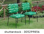 recycled chair made from... | Shutterstock . vector #305299856