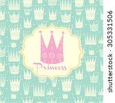 princess postcard. vector. | Shutterstock .eps vector #305331506