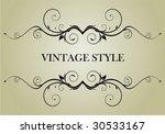 vintage frame   Shutterstock .eps vector #30533167