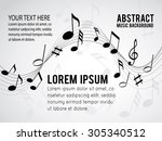 music notes on a solide white... | Shutterstock .eps vector #305340512