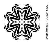 tribal tattoo vector design... | Shutterstock .eps vector #305345222