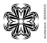 tribal tattoo vector design... | Shutterstock .eps vector #305345222