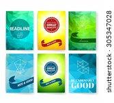 template. set of poster  flyer  ... | Shutterstock .eps vector #305347028