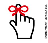 reminder icon. hand with finger ... | Shutterstock .eps vector #305366156