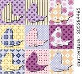 patchwork background | Shutterstock . vector #305384465