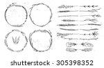 hand drawn vector illustration. ... | Shutterstock .eps vector #305398352
