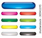 aqua gel web buttons with drop... | Shutterstock .eps vector #30541195