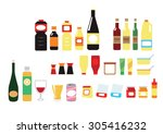miscellaneous condiments and... | Shutterstock .eps vector #305416232