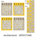 bingo game. vector illustration ...