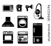 set vector icons of electric... | Shutterstock .eps vector #305422196