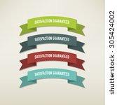 vintage elements set | Shutterstock .eps vector #305424002