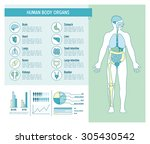 human body health care... | Shutterstock .eps vector #305430542