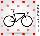 king of the mountains bicycle... | Shutterstock .eps vector #305434946