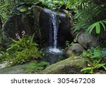 Small Mountain Waterfall In Th...