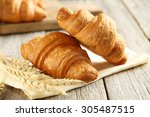 Tasty Croissants With Spikelet...